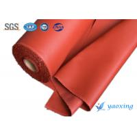 China Red Welding Curtain Silicone Coated Glass Cloth Fireproof And Waterproof wholesale