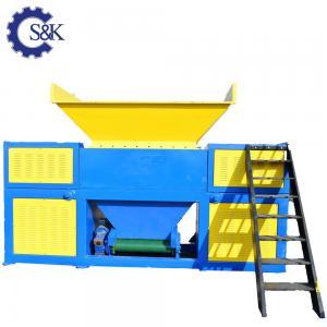 China Plastic Lumps Crusher Machine Twin Shaft Shredder Plastic Recycling Machine Price wholesale