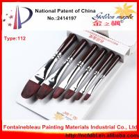 China High Quality Weasel Hair Wooden Handle Art Paint Brush on sale