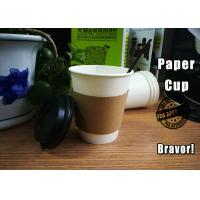 China Biodegradable Hot Drink Cups With Lids / Sleeves Environmental Protection wholesale