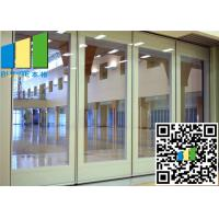 China 3.35 Inch Paired Sliding Folding Glass Room Partitions Singapore wholesale