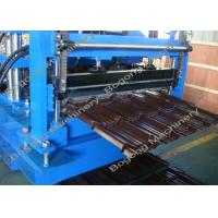 China Villa Roof Tile Roll Forming Machine Cr12 Steel Blade 2 - 4m / Min Working Speed on sale