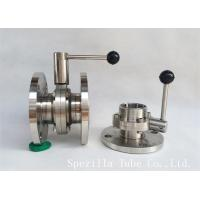 "China 1"" TP316L Sanitary Stainless Steel Valves And butterfly Vavles ASTM A270 wholesale"