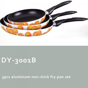 China 3pcs aluminum non-stick fry pan set on sale