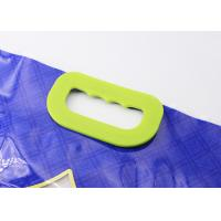 China Solid Carry Weight Plastic Bag Handles Clasp Type With 6 Holes Fasten On Rice Bags wholesale