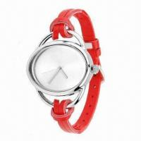 China Promotional Ladies' Watch, Leather Strap and Alloy Case, Fashionable Style, Best Off 30% wholesale