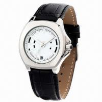 China Fashionable Leather Alloy Watch, Ladies' Wrist, Genuine Leather Strap, 3ATM Waterproof, Alloy Case wholesale