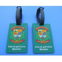 China Personalized Club De Golf Levis Member 3D Soft PVC Travel Hang Bag Tags / Name Card Tags For Club Big Event on sale