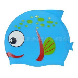China Waterproof 100% lovely silicone children swim cap wholesale
