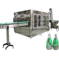 China 8000 BPH Glass Bottle Carbonated Soft Drink Filling Machine With PLC Control wholesale