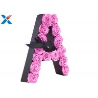 China Luxury Rose Gift Acrylic Flower Box A Letter Flower Box With Lid Non - Toxic on sale