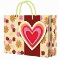 China Customized Handle Paper Bag for Shopping / Heart Gift Paper Bags for Souvenir wholesale