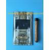 China Manufacturers custom-made sales gold printing cigar packaging moisturizing zipper bag wholesale
