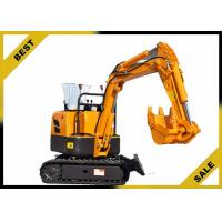 China 800kg Crawler Hydraulic Excavator 340mm Bucket Width , Road Digging Machine For Farm Use wholesale