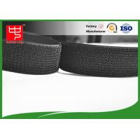 China Black reusable single Sided Velcro , A grade  hook and loop strap Silk printing wholesale