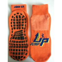 China China Supply Cotton Barre Grip Socks/ Trampoline With Sticky Bottoms/Non Slip Trampoline Socks With Rubber Grips wholesale