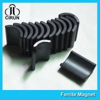 China Y30 Grade Ferite Arc Magnets For Motors , Ferite Ceramic Motor Arc Magnets wholesale