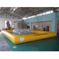 China Kids and Adult large inflatable swimming pools water sports games , yellow or blue wholesale