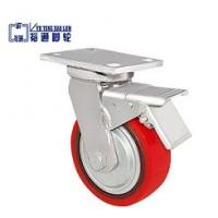 China Threaded Stem PU Caster With Brake wholesale