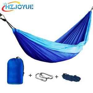 China Double Portable lightweight Parachute Nylon Fabric Camping Hammock wholesale