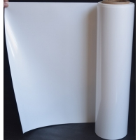 China 12um Label Advertising Industry White Flexible Packaging Film wholesale