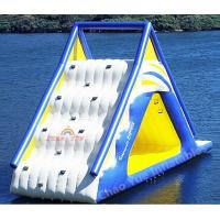 China Commercial Grade Floating 0.9mm PVC Tarpaulin Inflatable Water Slide for water park wholesale