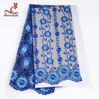 China African Cord Multi Colored Flower Lace Fabric For Clothing wholesale