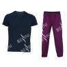 China Comfortable Mens Luxury Sleepwear Jersey Shirt Short Sleeve And Woven Printed Long Pants Australian Design wholesale