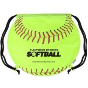 "China Softball Imprinted Drawstring Backpack - 17""w x 14.5""h wholesale"