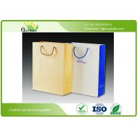 China Silk Printed Paper Shopping Bags, Die Cutting Handle Kraft Paper Gift Bags on sale