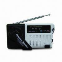 China Dynamo AM/FM Radio with Rechargeable Battery Power and Mobile Phones Charging Facility on sale