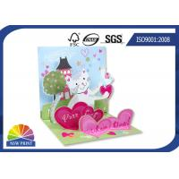 China Fancy Design 3D Pop Up Stand Display Christmas Greeting Card / Wedding Cards wholesale