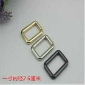 China Wholesale supplies handbag hardware 26 mm metal square gold messenger buckle wholesale
