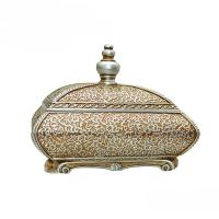 China Room Decor Antique Style Jewellery Box , Flower Sculpture Victorian Jewelry Box wholesale