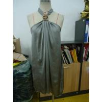 China Grey Chiffon Womens Club Dresses Boutiques Open Back Knot / Halter Neck Short Dress wholesale