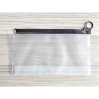 China Plastic Reusable Ziplock Bags , Frosted PVC Slider Bags With Ring Puller Easy To Open wholesale