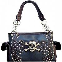 China bling rhinestone skull handbags for cowgril western fashion accessories wholesale