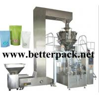 China automatic coffee beans granule doy pack machine stand up pouch packaging line wholesale