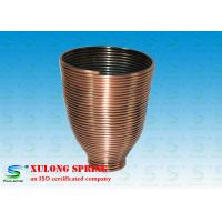 China Steel Copper Plating Display Specialty Springs Cup Shaped Left Direction wholesale