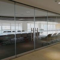 China Frameless Glass Office Furniture Partitions Operable Walls For Conference Room wholesale