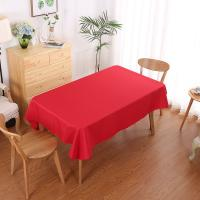 Quality Luxury plain weave tablecloth Handmade Smooth Appearance for wedding party hotel for sale