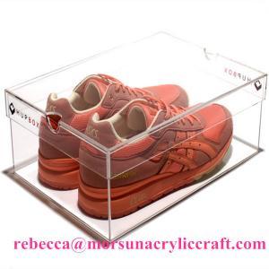 China Eco-friendly High Quality Acrylic Shoe Box Plastic Shoes Display Rack wholesale