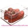 China Luxury shoe box design China transparent acrylic shoe display box wholesale