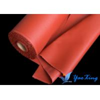 China Red Silicone Coated Fiberglass Fabric For Fire Curtain And Flexible Joint wholesale