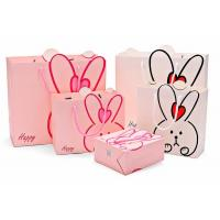 China Lovely Custom Printed Shopping Bags , Colored Paper Bags With Handles wholesale