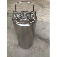 China Beer Storage Stainless Steel 3 Gallon Ball Lock Keg With Rubber Handle on sale