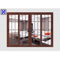 China Frosted Glass Aluminum Door Profiles Excellent Thermal Conductivity Custom Size wholesale