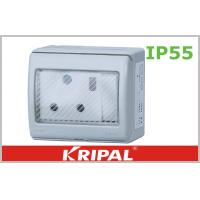 China South Africa Outdoor Plug Socket / 15 Amp Round Pin Socket 250V wholesale