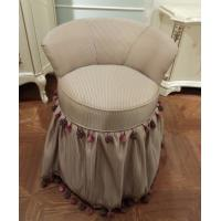China Simple Luxurious Dressing Table Stool / Small Bedroom Chairs Bookroom Type wholesale