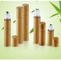 China China made cosmetic packaging bamboo  roll on bottle perfume 5ml 10ml 15ml with window wholesale
